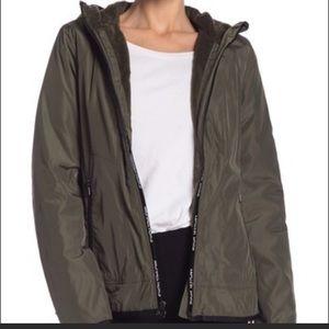 Michael Kors Plush Lined Windbreaker Jacket